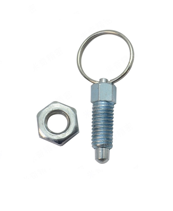 uxcell M10 Thread 5mm Pin Length Carbon Steel Non Lock-Out Type Indexing Plunger w Pull Knob Nut