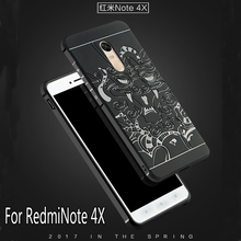 Luxury phone case Xiaomi Redmi Note 4X High quality silicone hard Protective back cover xiaomi redmi note4x phone shell