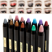 Cheap makeup shimmer glitter eyeshadow pen waterproof single color eyeshadow powder pigment 14 colors highlighter pencil LM022(China)