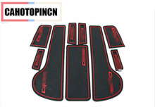 9pcs Anti Non slip With Words In Car stickers Door Cup Gate Slot Mat Pad Groove Mat For Chevrolet Cruze 2009 To 2014 Car-styling