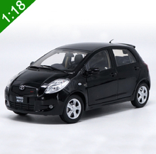 1:18 Toyota Yaris 2008 Diecast Car Model Black Color Car Model For Baby Toy Gifts High Simulation Free Shipping(China)