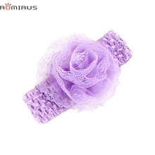 ROMIRUS Modern 2017 Baby Girl Hair Accessories Headband Elastic Chiffon Flower Cute Lovely Toddle Infant Newborn Hair Bands E49