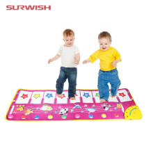 Surwish Animal Pattern Baby Touch Play Keyboard Musical Toys Music Carpet Mat Blanket Early Education Tool Toys Two Version(China)