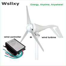 3 Blades 400W 12v 24V Wind Turbine Generator With 12/24v auto Waterproof wind Charge Controller Wind Generator Kits(China)