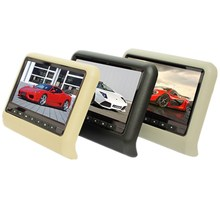 9 inch TFT LED Screen Headrest monitor Car DVD Player &Game DVD USB SD IR Transmitter Portable Headrest Monitor SH9808DVD(China)