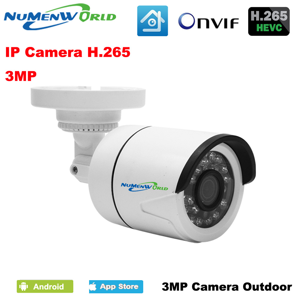 Outdoor XM H.265 HD Video Surveillance 3.0MP IP Camera ABS Plastic Material Mini Camera DC 12V 48V PoE Version Optional <br>