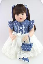 "28"" 70CM large size silicone reborn babies lifelike girl reborn toddler soft  doll bebe alive bonecas toys for girls gift"