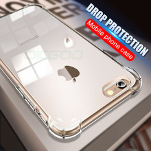 Buy OICGOO Premium TPU Case iPhone 6 6s 7 8 Plus X Slim Transparent Silicone Soft Back Cover Clear Phone Cases iPhone X 10 for $1.00 in AliExpress store