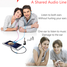 1 Male - 2 Female Audio Extension Cord Convert Cable Adapter  Android   Tablet Laptop MP3 TV CD Speakers Earphones