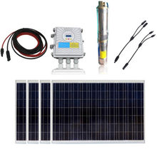 AU Stock 1000W Poly Solar Panel + 48V Solar Submersible Deep Well Pump w/ Controller(China)