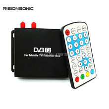 Car DVB T2 DVB-T2 Double Antenna H.264 MPEG4 Mobile Digital TV Box Receiver Dual Tuner for Russia Thailand Indonesia Colombia