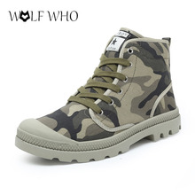 Fashion Boots Men Canvas Shoes Brand Ankle Boots  Design Shoes Winter Men boots Ankle Botas Hard Outsole Tactical Military Boots