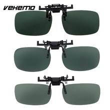 VEHEMO Outdoor Dark Green Polarized Lenses Mirror Clip Sunglasses UV400 Glasses