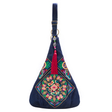 2017 Chinese style embroidery bag ethnic shoulder bags women crossbody hobo bag Black,Blue,Red Casual cowboy shoulder bag