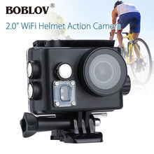 "BOBLOV 2.0"" LCD 4K Helmet Video Camcorder 16MP HD 1080P WiFi Sports Action Camera HDMI USB Waterproof 170degree Wide Angle"