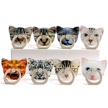 Hot Sales 1 Piece Acrylic Universal Mobile Phone Holder Stand Lovely Kitty Head Cartoon Smartphone Rings