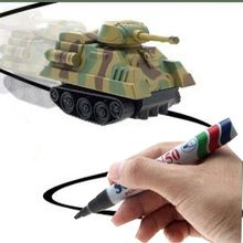 1 PC 2017 Popular Hot Sale Magic Pen Inductive Tank Toys Follow Any Line You Draw Truck Bus Tank Children Kid Gifts