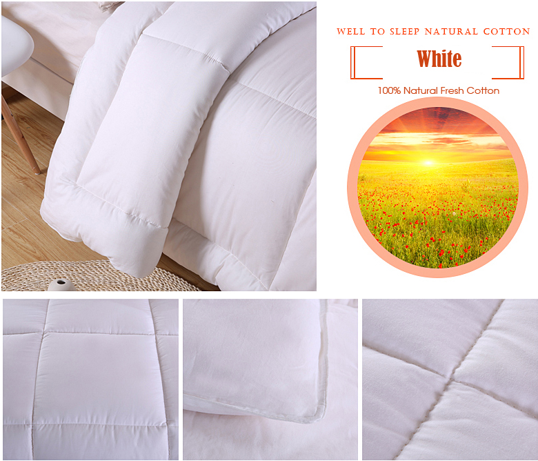 100% Natural Cotton Quilted Comforters 18