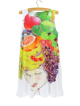 2015 summer sleeveless new arrival soft dress thin digital printed fashion cheap vestidos discount cat 3d print women dress(China)