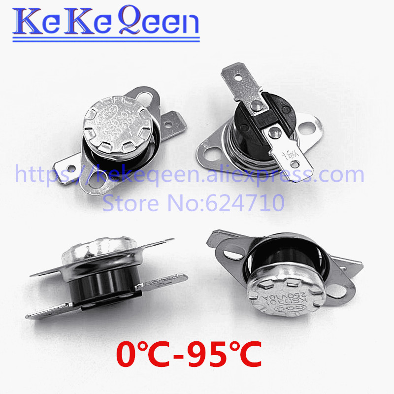 Termostatos KSD301 Interruptor de Control de Temperatura 5 Piezas 250VAC 15A 90C N.C.