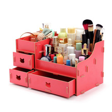 Find show Seoul manufacturers of the new super large 21 cosmetic box desktop DIY wooden box cosmetics storage box