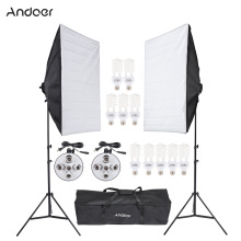 DE US STOCK Professional Photo Studio Lighting Kit Video Equipment With Softbox Light Socket 45W Bulb Tripod Stand Carrying Bag(China)