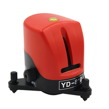 YD-810 360 degree self-leveling Cross Red Laser Level Wave length 635nm 1V1H Red 2 line 1 point Mini portable Instrument