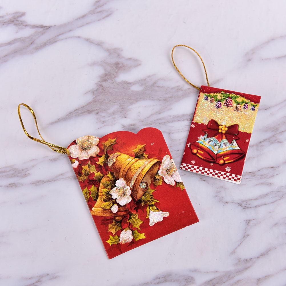 Christmas Tree Hanging Card Mini Christmas Cards Decorations Gifts