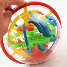 100 Levels Intellect Ball Puzzle Game Brain Teaser Rolling Ball Children Learning Educational Toys Orbit Game 3D Magic Maze Ball