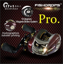 FISHDROPS BC150 18BB Left Hand Right Hand Fishing Bait Casting Reel with One Way Clutch LEFT HAND/right hand