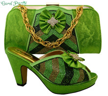 Latest Shoes and Bag To Match Italian African Women Wedding Shoe and Bag Sets Matching Shoes and Bags MM1028