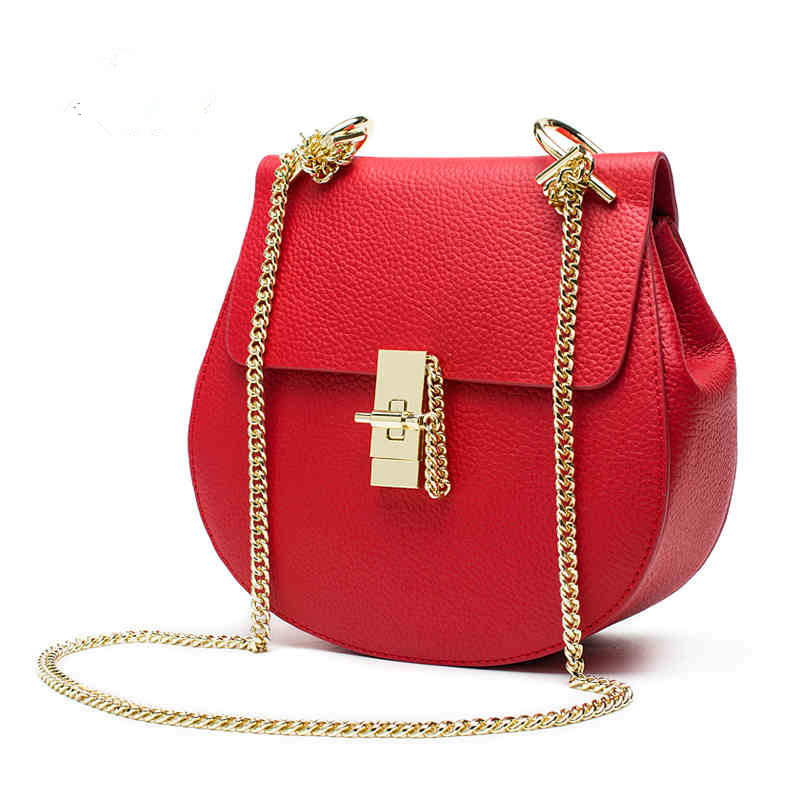 2017 mini red leather bag crossbody handbags women famous brands small ladies chain shoulder bags<br><br>Aliexpress