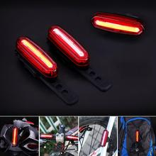 IPX 6 Rechargeable COB LED USB Mountain Bike Tail Light Taillight MTB Safety Warning Bicycle Rear Light(China)