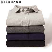 Giordano Men Long Sleeve Polo Casual Polo For Men Brand Quality Clothes Soft Cotton Tops Camisa Polo Masculino(China)