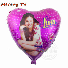 50pcs/Bag 18inch Soy luna NEW HEART Foil AIR Balloon Cartoon Air Balloons Party & Birthday Decorations Helium Balloons Kids Toys(China)
