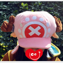 Hot Anime One piece Cosplay Cap 2color Tony Chopper charm dinosaur Costume Cotton Adult Blank Snapback Caps Novelty unisex baggy