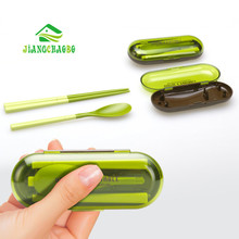 Portable Chopsticks Tableware Spoon Two-Piece Suit  Cutlery Outdoor Travel Kitchen Gadgets Bento Box Bento Lunch Box