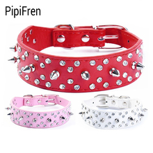PipiFren Small Dogs Collars Spiked Rhinestone Puppy Accessories For Cats Necklace Cat-Collar dieren benodigheden hond tasma