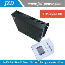 Intelligent Auto 12V/24V 60A/80A/100A Solar Charge Controller 2 Circuits Solar power Input Solar Panel Regulator Automatic