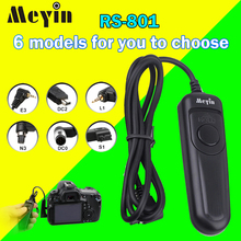 Meyin RS-801 Wired Shutter Release Cable Remote Control for Canon 50D 40D Nikon D7100 D7200 D5300 D5100 D3200 Sony DSLR Canmeras(China)