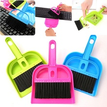 1 set New Arrival Small Brooms Whisk Dust Pan Table Keyboard Notebook Dustpan Brush Set Cleaning Tools(China)