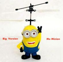 Big Smile Me Minion Induction Fly Toys Remote Control RC Helicopter Flying Quadcopter Drone Kids Toy Fairy Doll Best Gifts