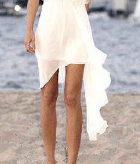 2015-Summer-Style-Cheap-Short-Ivory-Chiffon-Casual-Beach-Wedding-Dress-Bridal-Gown-Custom-Made-Size (3)