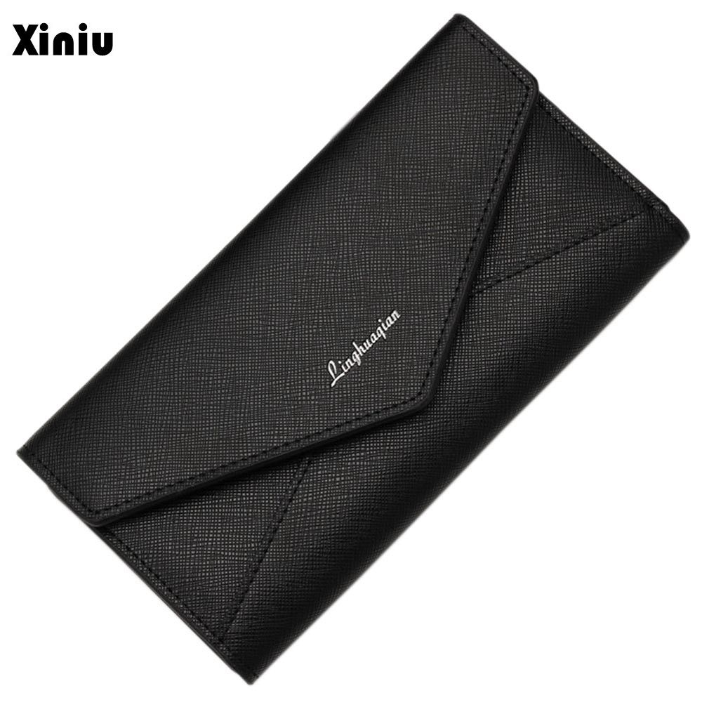 Xiniu Top Luxury Brand PU Leather Women Wallets Long Purse Section Button Bifold Wallets Card Coin Purses Gift Bolsa<br><br>Aliexpress