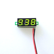 "10pcs/lot New 0.28"" DC 3.5-30V Super Mini Digital Display Auto Car Voltmeter Green LED Voltage Volt Panel Meter battery monitor(China)"
