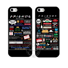 FRIENDS FUNNY TV SHOW LOGO NOVELTY Case Cover for Apple iPhone X 4 4S 5 5S SE 5C 6S 6 7 8 Plus 8Plus