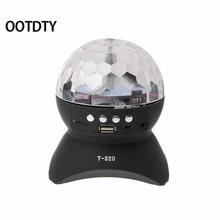 Wireless Bluetooth Speaker Colorful Flash Light Show Effect Stage Crystal Ball(China)