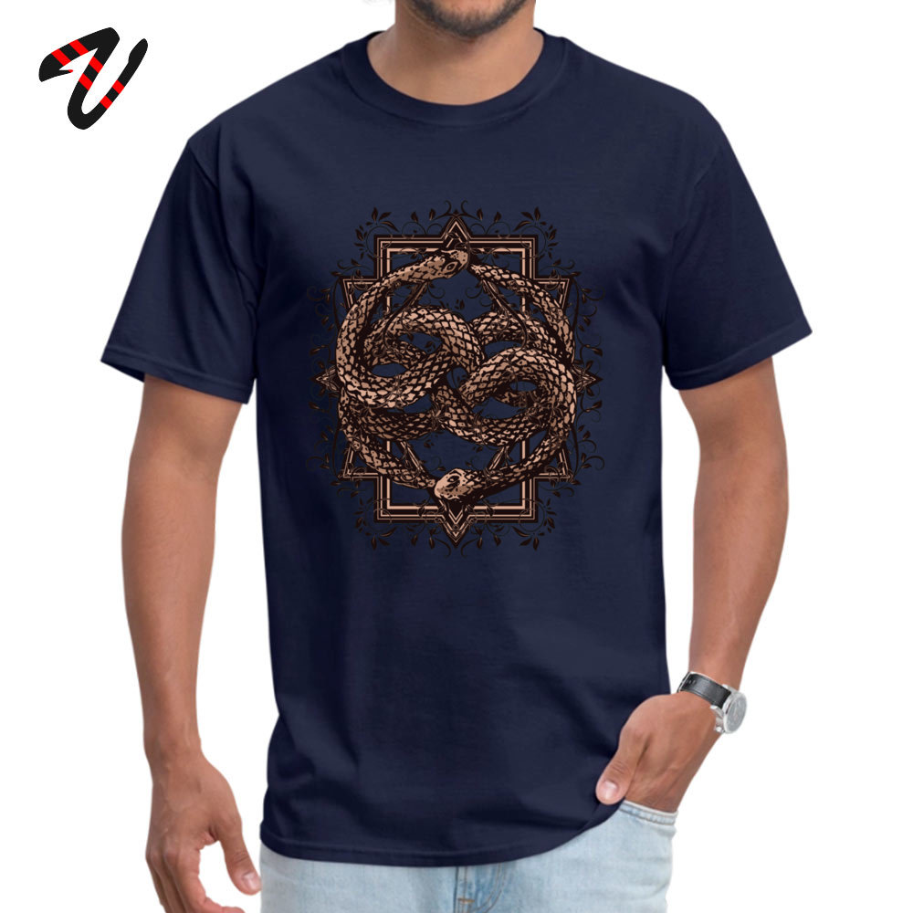 Printed On 100% Cotton Fabric Camisa T Shirt Dominant Short Sleeve Men Top T-shirts Normal Labor Day T-shirts Round Neck Life is a NeverEnding story -10385 navy