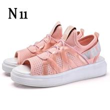N11 Women's Shoes Summer Wedges Sandals Fashion Lady Tennis Open Toe Slimming Woman Casual Shoes Breathable Platform Sandalias