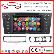 Car DVD Player Pure Android 5.1 For E90 320i 318i 325i 3 series Multimedia GPS Radio DVB TV BT WIFI 3G Rear View Camera(China)